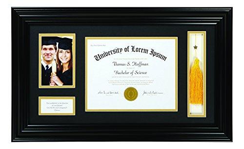 Creative Brands Heartfelt - Motivational Keepsake Diploma and Photo Frame, 15 x 25-Inch, Thoreau