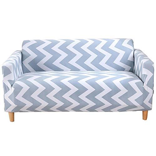 Allenger Funda de sofá Antideslizante,Printed Stretch Sofa Cover, Furniture Protector, Machine Washable, Non-Slip Sofa Cushion-Stripes 2_195cm-230cm