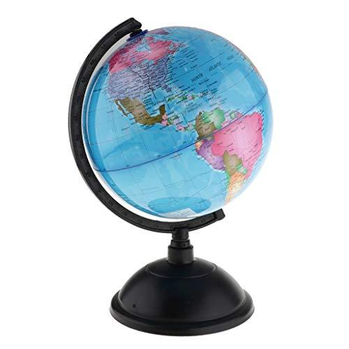 WHHHuan 1 stück Weltkarte globus Spinning interaktiv Welt globus Kinder Student pädagogisch Lernen Spielzeug unterrichten Werkzeuge Schreibtisch Tabletop dekor (Farbe : Blue 2)