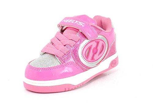 Heelys Mädchen X2 Plus Lighted (he100011) Skateboardschuhe, Mehrfarbig (Neon Pink/Light Pink/Silver 000), 33 EU