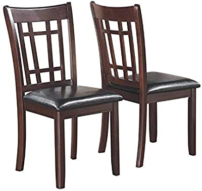 Amazon Com Set Of 2 Dining Chairs Traditional Walnut