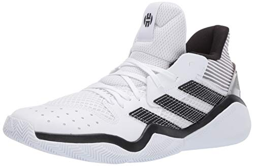 adidas mens Harden Stepback Basketball Shoe, Ftwr White/Core Black/Dove Grey, 10.5 US