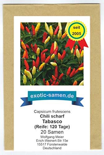 RWS On peut dire que l'une des variétés de piment les plus célèbres du monde - Chili Tabasco - 20 graines