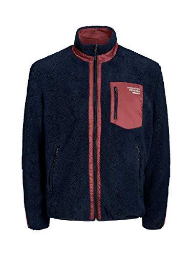 JACK & JONES Herren Fleecejacke Willow Stand Collar Jacket LNavy Blazer