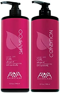 Ava Haircare - Curl Shampoo And Conditioner - Vegan, Sulphate Free, Paraben Free, Cruelty Free - Argan Oil Shampoo and Conditioner (Set of 2, 33oz Each)