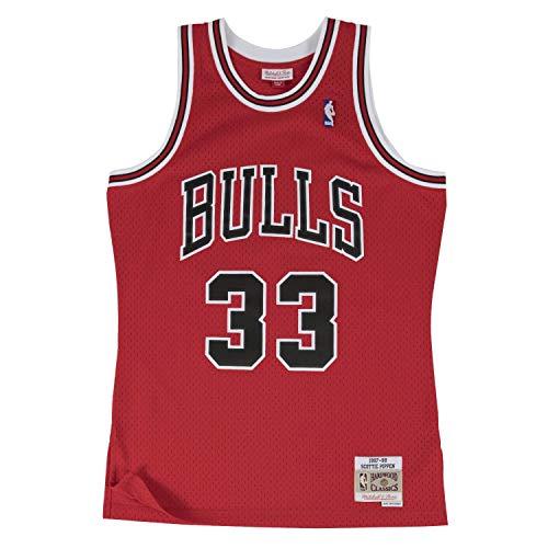 Mitchell & Ness Chicago Bulls Scottie Pippen 1997 Road Swingman Trikot - Rot - Small