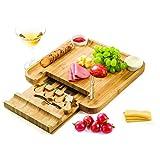 Tabla de cortar de bambú, 8 piezas, juego de cuchillos para queso y cuencos aperitivos