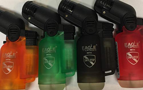 Eagle Torch Lighters Asst Clear Colors 4pack Deal