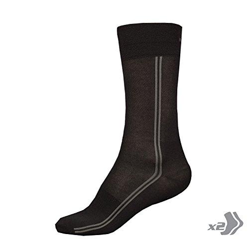 Endura–coolmaxlong 2Pack Socks, Black, Gr. EU 37–42