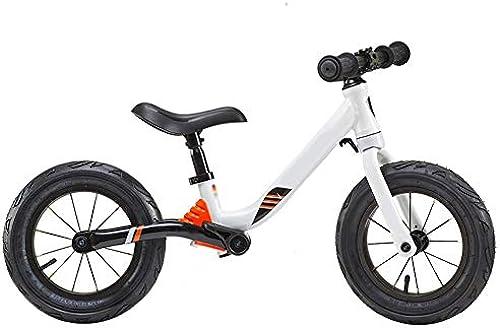 YJFENG-Laufrad Kinder Balance Bikes SchlagStoßdämpfersystem Mit Hoher Geschwindigkeit Pedal Ausruhen Kein Spitzer Winkel Kein L ,3 Farben (Farbe   Weiß, Größe   91.5x5cm)
