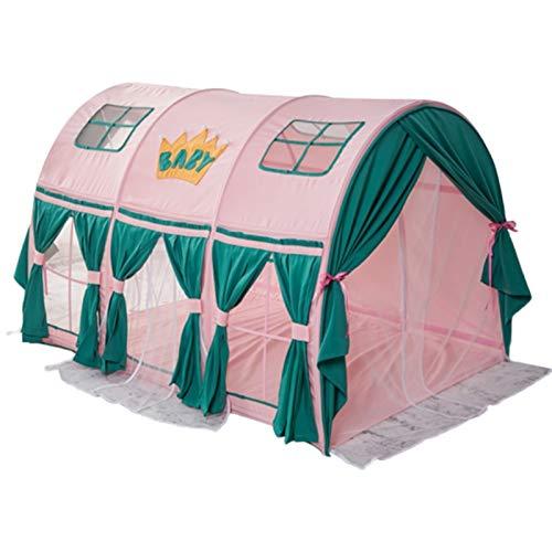Play House Tienda de Cama, Jugar Casa Bebé Hogar Protección Niño Niña Gateando Túnel Carpa Túnel para Niños, Rosa