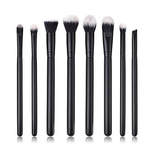 MEIYY Pinceau De Maquillage 8Pcs Maquillage Brosse Ombre À Paupières/Poudre/Mixeur/Correcteur/Fond De Teint Plat/Blush