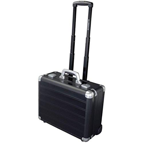 Alumaxx BusinessTrolley Galaxy aus Aluminium, Circa 37 × 46 × 20 cm Laptop Rollkoffer, 46 cm, 26 L, Schwarz Matt