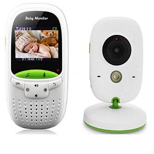 Laiyiy 2,0 Pouces LCD Capteur De Température De Vision Nocturne Infrarouge 8 Berceuse Bébé Talkie-walkie Babysitter (Conception : UK Plug)