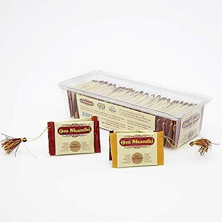 Om Shanthi Pooja Made Pure Tambula Pouch Kumkum & Turmeric -Pack of 2, Yellow
