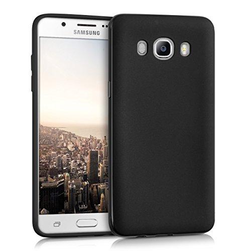 kwmobile Hülle kompatibel mit Samsung Galaxy J5 (2016) DUOS - Hülle Silikon - Soft Handyhülle - Handy Hülle in Schwarz matt