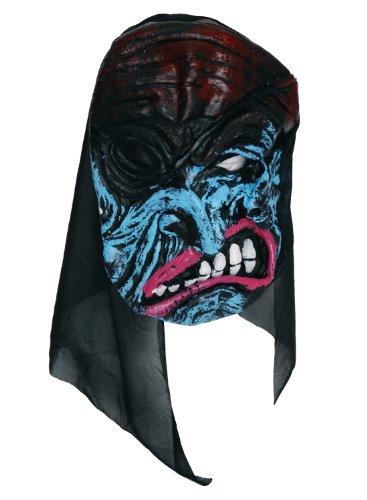 Zombie Masque en caoutchouc Bleu/Rose
