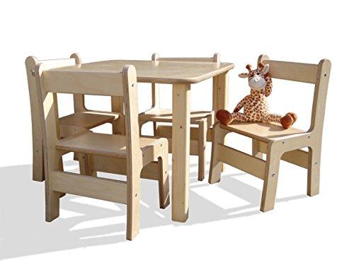 Eli-Kids Kindersitzgruppe 4 Stühle, 1 Tisch