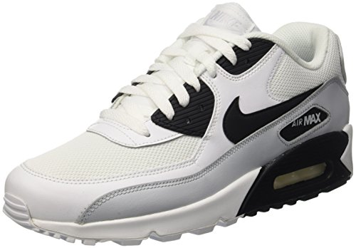 Nike Air Max 90 Essential, Scarpe da Ginnastica Uomo, Multicolore (White/Black-Pure Platinum-White), 40