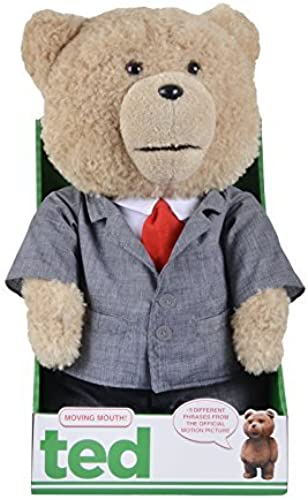envio rapido a ti Ted Bear in Suit 16 Plush with with with Sound and Moving Mouth - R-rated, 5 Phrases (Explicit Language) by Commonwealth Toys  hasta un 70% de descuento