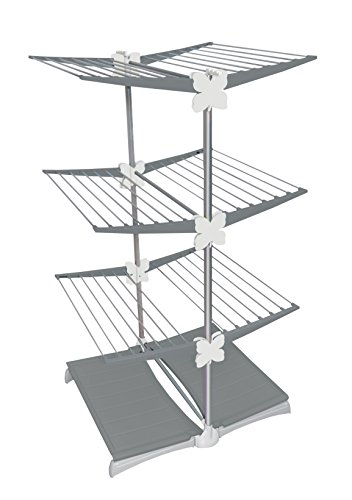 Meliconi 70191104202stendimeglio Junior, Tendedero Vertical, Gris, 71.5x 11.5x 130cm, 2Unidad