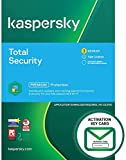 Kaspersky Total Security 2021 | 3 Devices | 1 Year | PC/Mac/Android | Activation Key Card by Post with Antivirus Software, Internet Security, Secure VPN, Password Manager, Safe Kids
