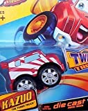 Tonka CHUCK & Friends Twist Trax Diecast KAZUO [Red/White TUNER Truck]