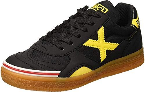 Munich Gresca Kid 02 S, Zapatillas de Deporte Hombre, Negro (Negro/Amarillo 606), 38 EU
