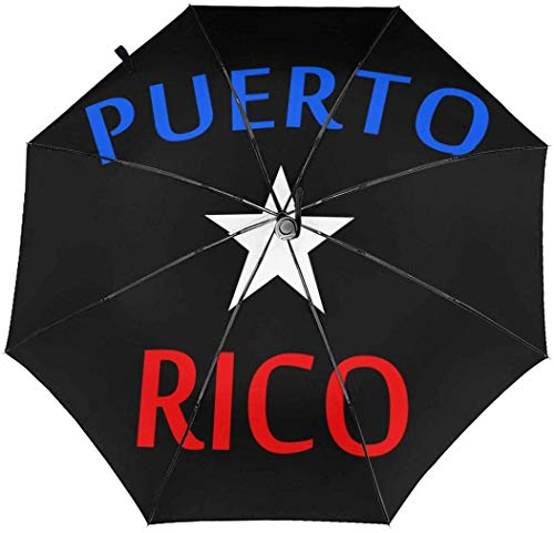 Puerto Rico Paraguas Automático de Tres Plegables Sombrilla Sombrilla Interior Impresión