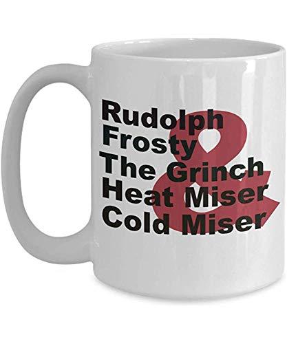 MJDIY Tassen,Weihnachtsfernsehshow-Liebhaber-Tasse - Rudolph U. Eisiges U. Das Grinch U. Hitze-Geizhals U. Kaltes Geizhals
