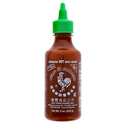 Sriracha Hot Chili Sauce, Huy Fong 9 Ounce Bottle (1 Bottle)