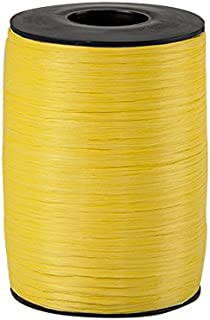 "74900-65 Matte Daffodil Yellow Wraphia Ribbon 1//4/"" x 100 Yards"