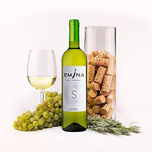 EMINA vino blanco Sauvignon (D.O. Rueda). 2 Uds. de 75 cl. cada una