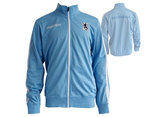 Macron TSV 1860 München Anthem Jacket Löwen Sportjacke Freizeit-Top hellblau, Größe:XXL