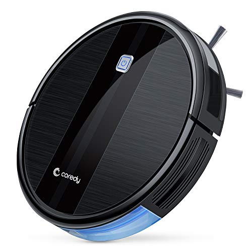 Coredy Robot Vacuum Cleaner, 1700Pa Strong Suction, Super Thin Robotic Vacuum,...