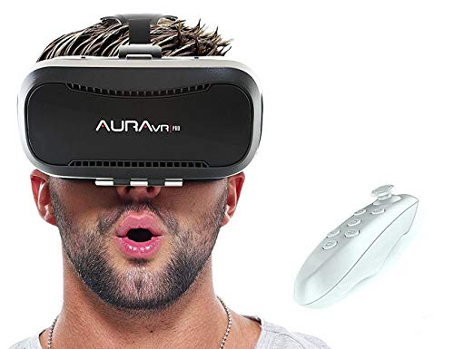 AuraVR Pro VR Box Headset with Remote Controller,...
