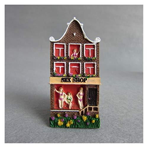 Gzjdtkj Imán de refrigerador Holland Amsterdam Tourist Tourist Souvenirs Frigorífico Imanes 3D Color Color Casa Resina Refrigerador Pegatinas Magnéticas Decoración para el hogar Decoración