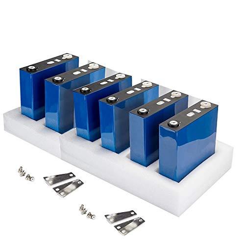 LiRongPing 6PCS New 3.2V 200AH LifePO4 Battery DIY 18V 36V Battery Pack Suitable for Solar System/RV RV/Boat/car, Environmentally Friendly deep-Cycle Battery