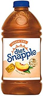 SNAPPLE DIET DRINK PEACH TEA 64 OZ ( TWO BOTTLES )
