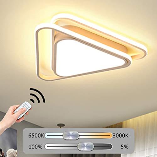 XFZ Lampada da soffitto a LED Dimmerabile Lampada da soffitto Lampada da soffitto moderna Lampada da soffitto in metallo Acrilico Design triangolare Illuminazione decorativa interna da soffitto con te