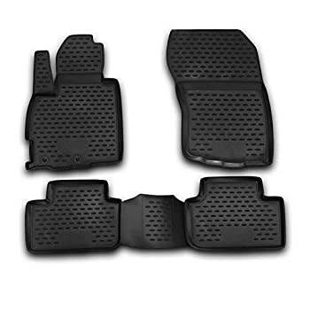 Complete Set Custom Fit Liner Auto Accessories | All Weather Performance 3D Molded Black Rubber Car Floor Mat | Fits Mitsubishi Outlander Sport 2011-2020 | Thickness 0.084 inch /2,150 mm