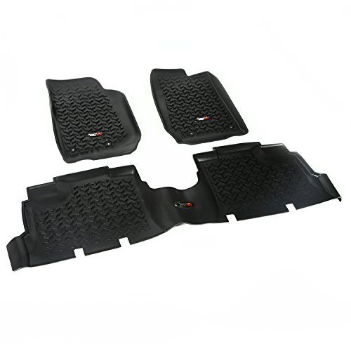 Rugged Ridge 12987.04 Black Front and Rear Floor Liner