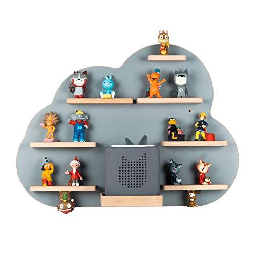 BOARTI das Original Kinder Regal Wolke in Grau - geeignet für die Toniebox und ca. 43 Tonies - zum Spielen und sammeln
