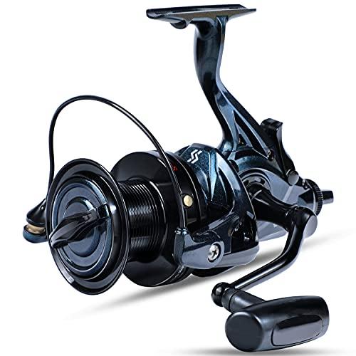 Sougayilang Spinning Fishing Reel,Ultra Smooth 13+1 Stainless Surf Reel,Powerful Drag and High Speed Saltwater & Freshwater Surf Fishing Reel- 9000
