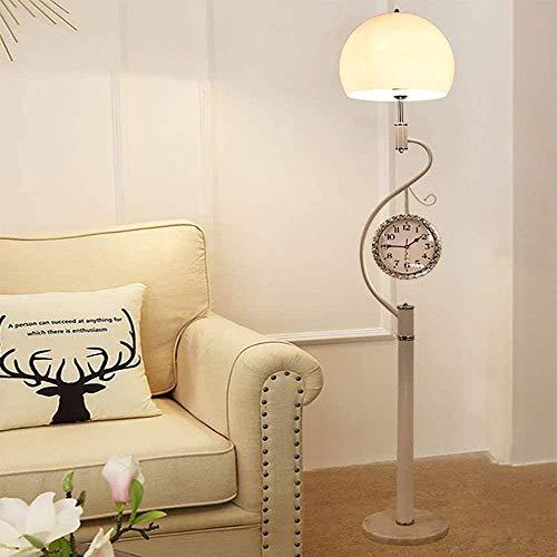 Eenvoudige moderne creatieve leiding verticale dimbare vloerlamp, bank in de woonkamer slaapkamer nachtkastje decoratieve verlichting (afstandsbediening schakelaar), Wit