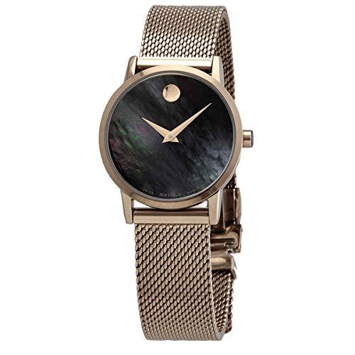 Movado Museum 0607426 - Reloj de pulsera para mujer con esfera de nácar