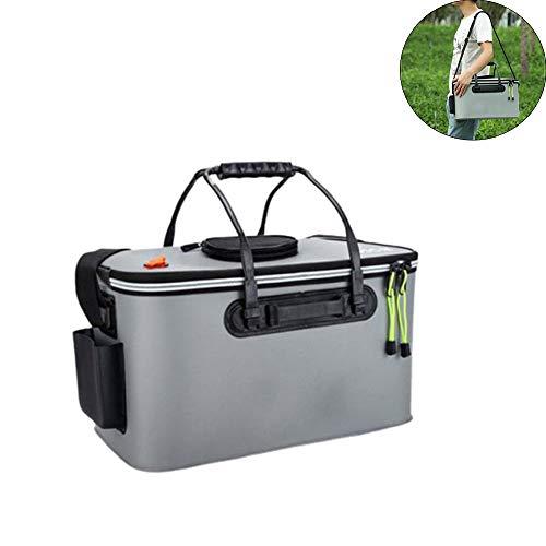 JIASHU Tackle Box Bag, Outdoor Large Fishing Tackle Storage Bag, Waterproof, Saltwater Resistant Fishing Bags 17.7 * 10.2 * 9.8 in
