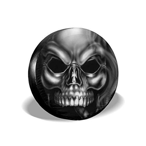 Y.Z.L. Funda para Neumáticos Cubierta para Rueda de Repuesto Protección Bolsa de Almacenamiento Fumar cráneo 14/15/16/17inch