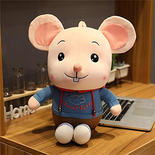 Lindo ratón de Peluche de Juguete Animal de Peluche pequeño ratón muñeca de Juguete Suave Almohada de Felpa Juguete para niños Regalo de niña Kawaii Felpa 25cm Azul