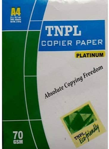 DHAYAN™ Printing Blank Paper 500 SHEET (Clean White) 70 GSM A4 SIZE All Printer Accept This Paper Size A4 Printing Pa...